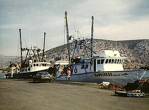 "The ""Happiness"" fishing vessel"