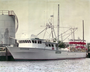 "1984 - a landmark year - with the construction of the fishing vessel ""Happiness"""